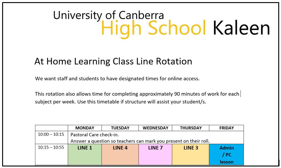 Term 4 class line rotation image